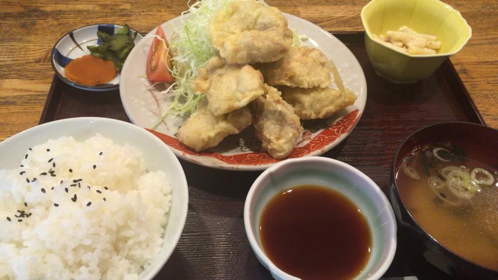 地鶏の天ぷら定食 和の花