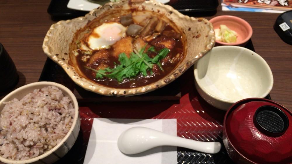 大戸屋 噌かつ煮定食