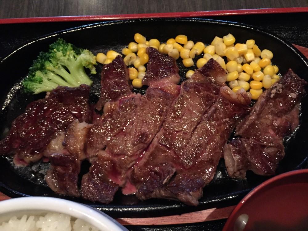 和牛炭家さざん ステーキ定食