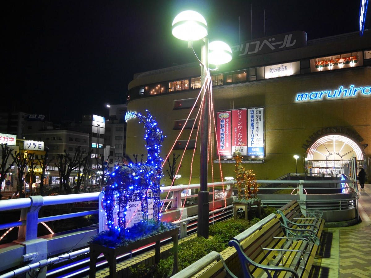 【上尾市】12月の駅前のイルミネーションは意外と綺麗です