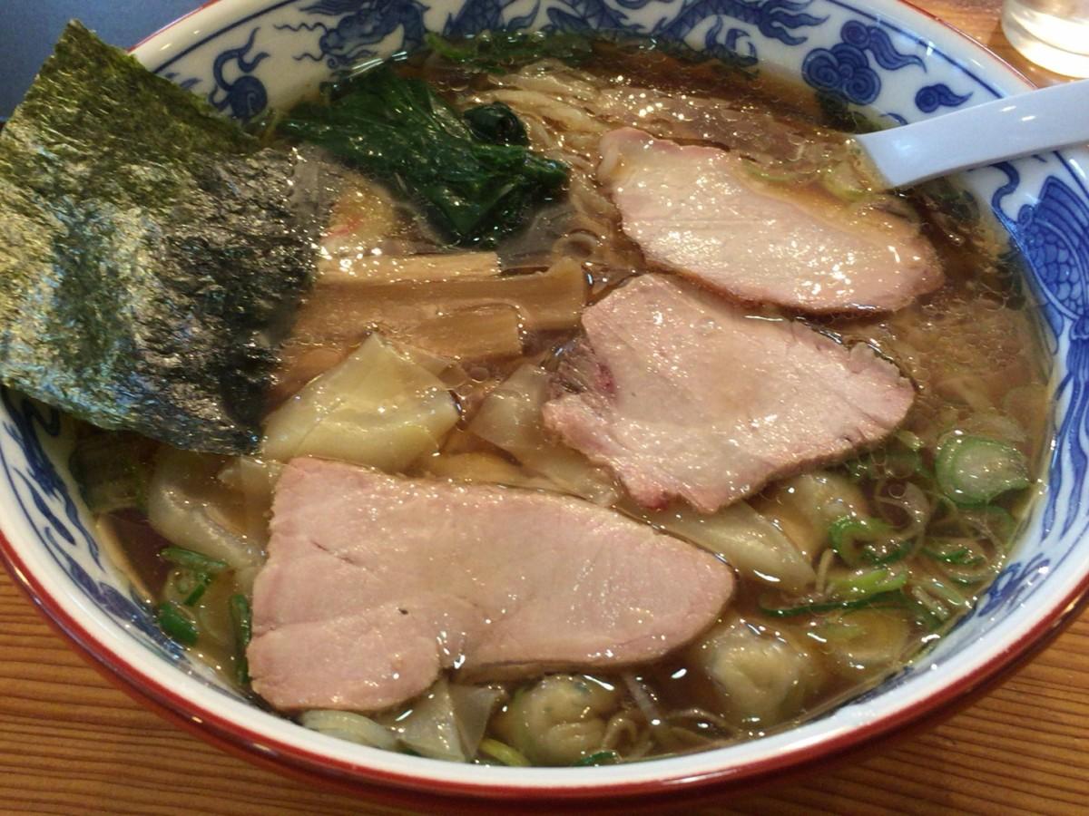 自家製麺が美味しいラーメン店 賀乃屋(かのや)にいってきた【上尾市】ワンタンメン