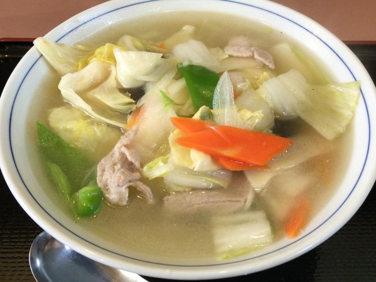 【さいたま市西区】中華料理店「かすがや」 メニュー 一覧 塩やさいラーメン