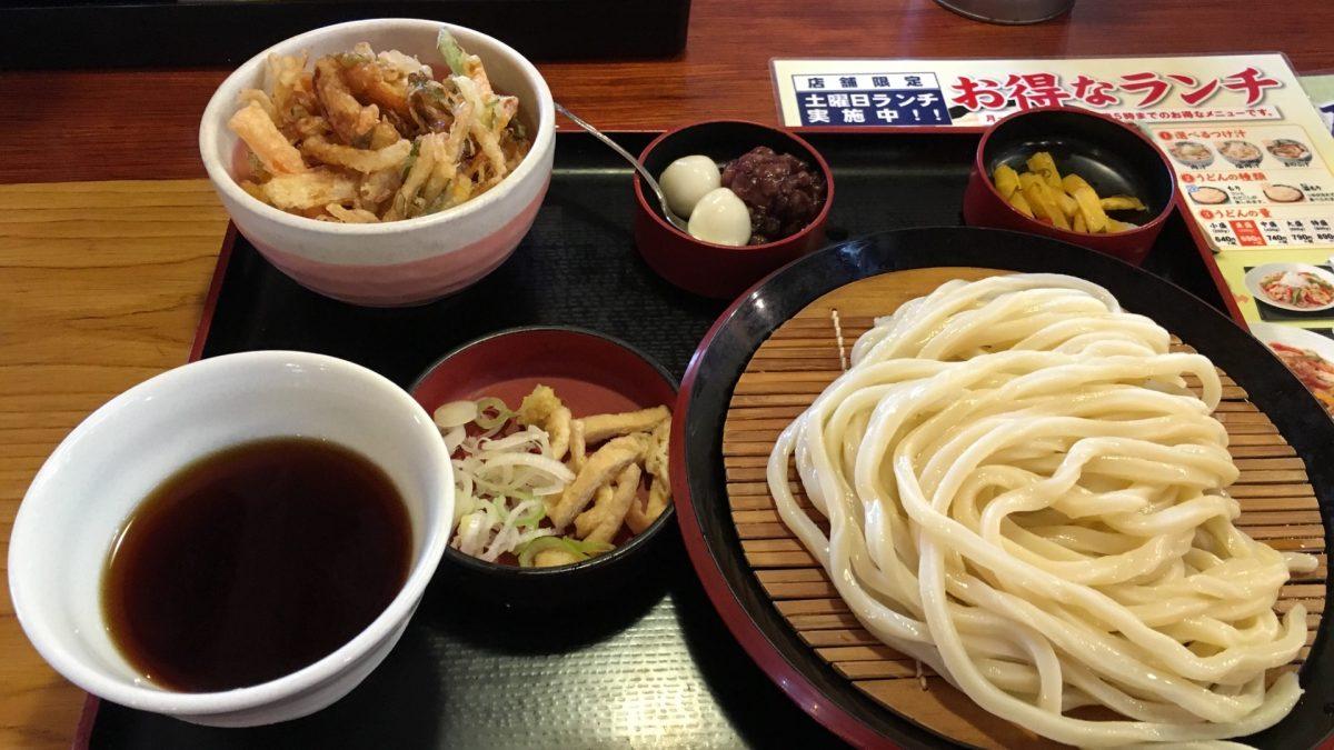 【上尾市】うどんチェーンの久兵衛屋の500円ランチはお得でコスパが良い!