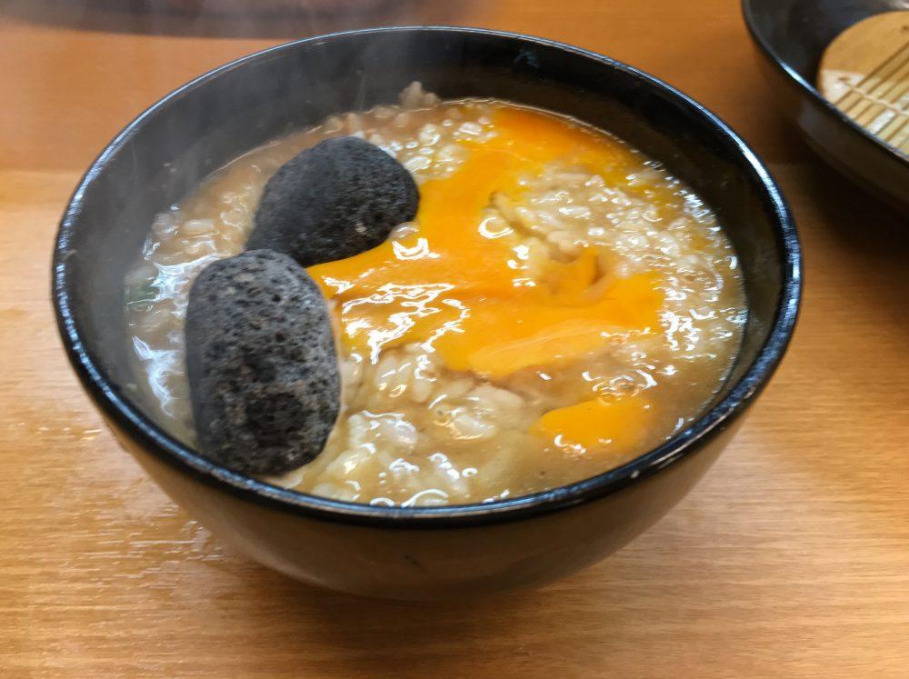 麺処ろくめい 焼石雑炊